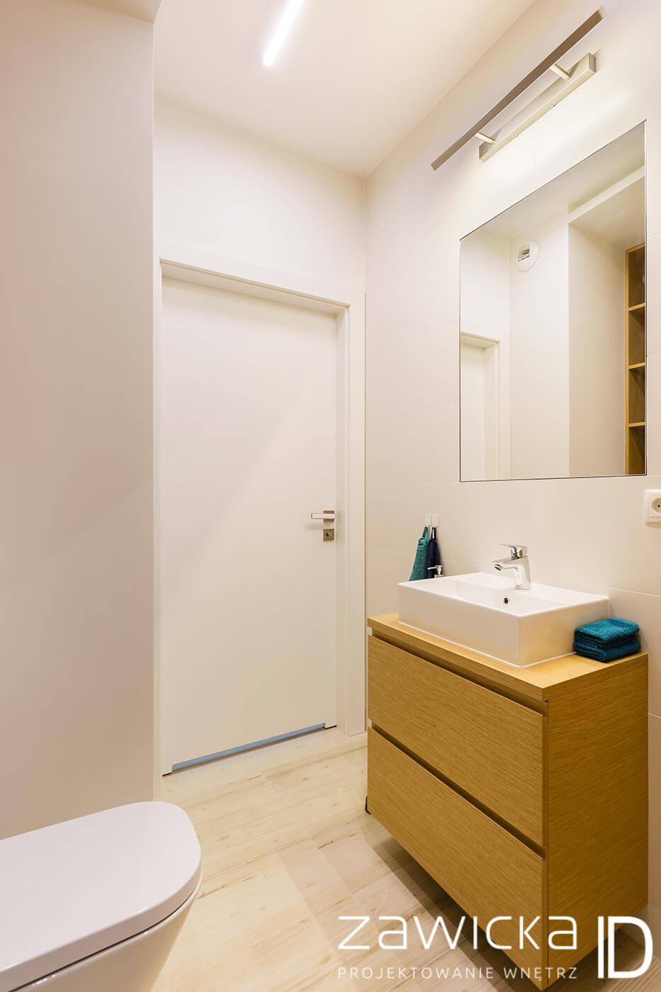 projekt łazienki - kawalerka