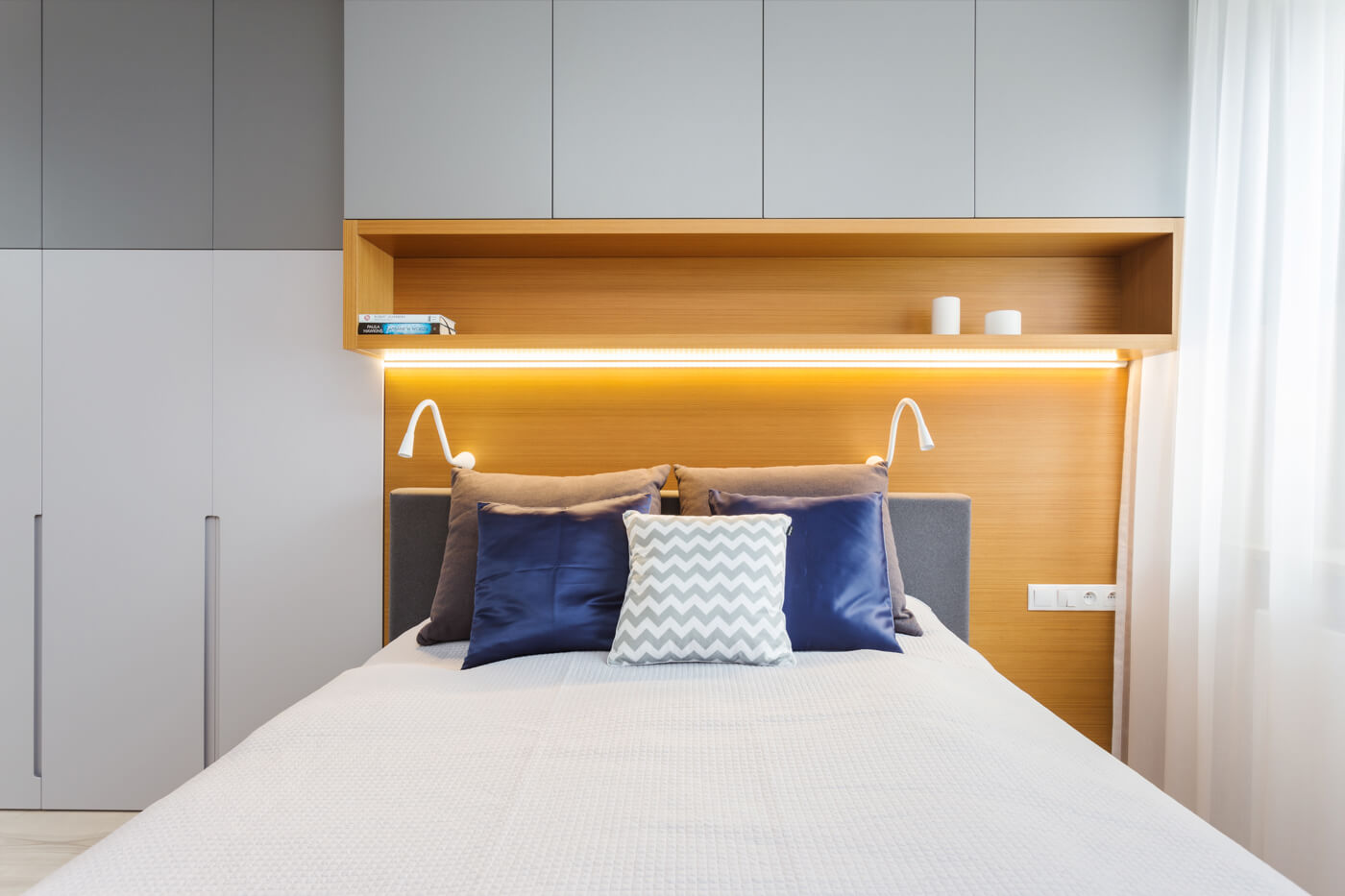 projekt sypialni w 4 pokojowym mieszkaniu