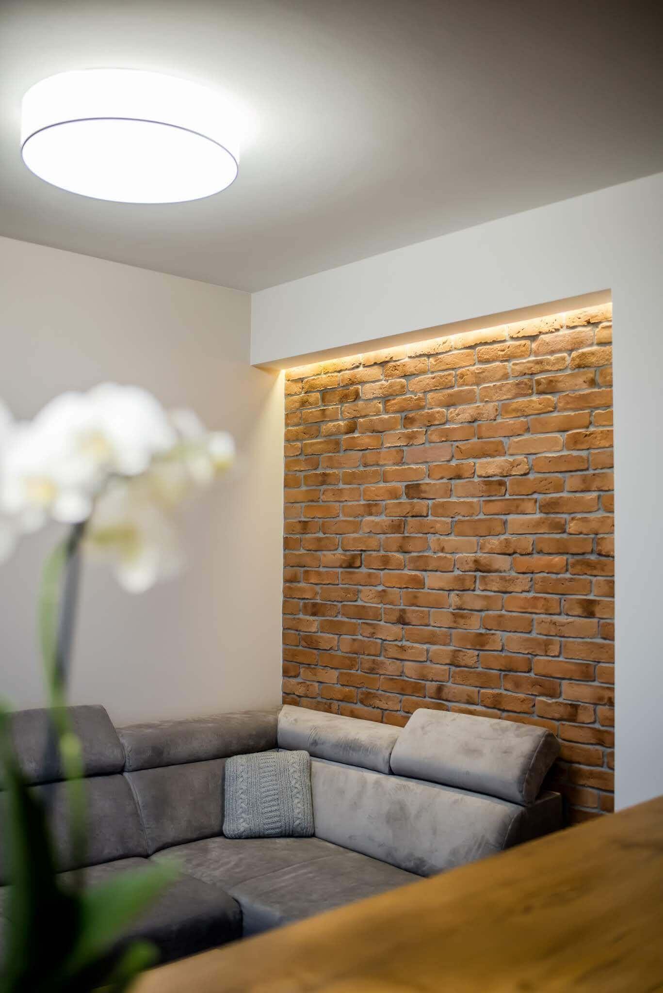 projekt salonu w 2 pokojowym mieszkaniu