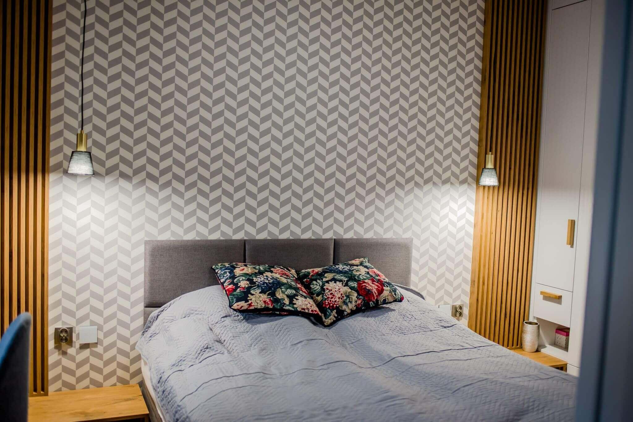 projekt sypialni w 2 pokojowym mieszkaniu
