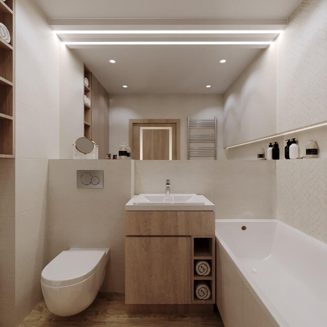 łazienka - mieszkanie 43m2