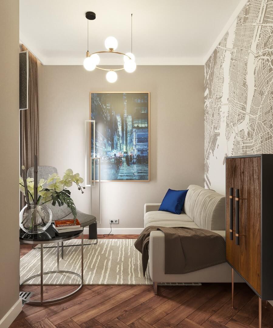 projekt apartamentu - zawicka id