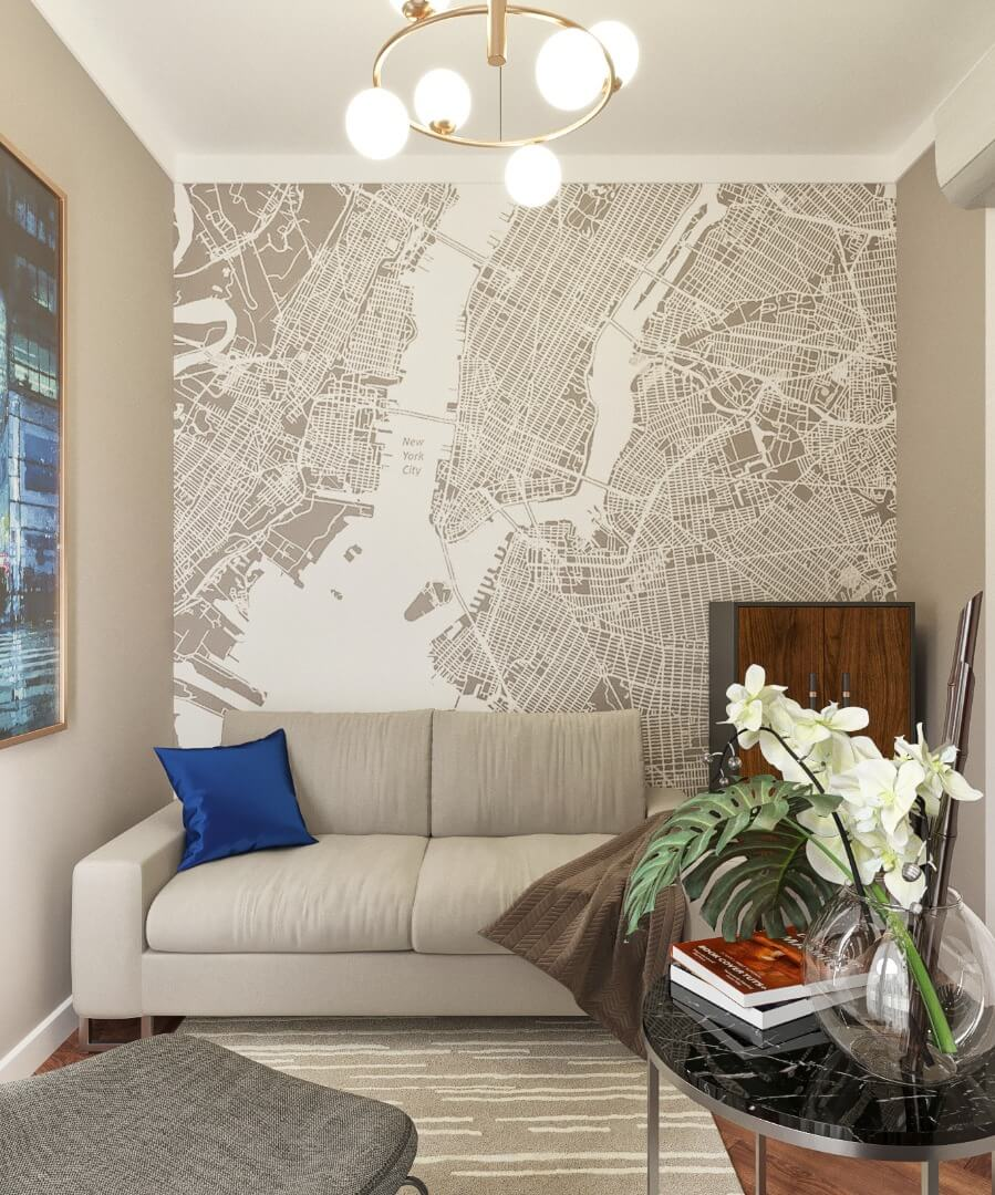projekt salonu - apartament