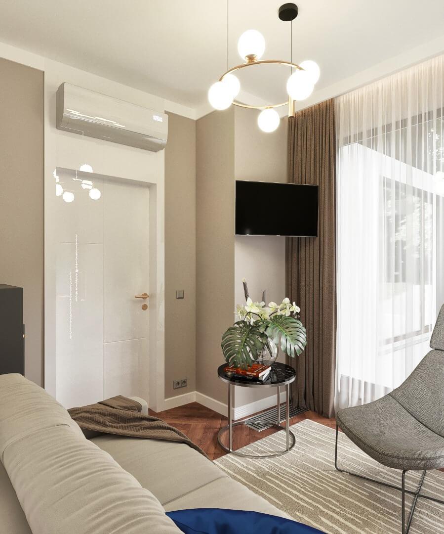 salon - projekt apartamentu